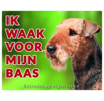 Stickerkoning Airedale Terrier Wake board - I watch my boss
