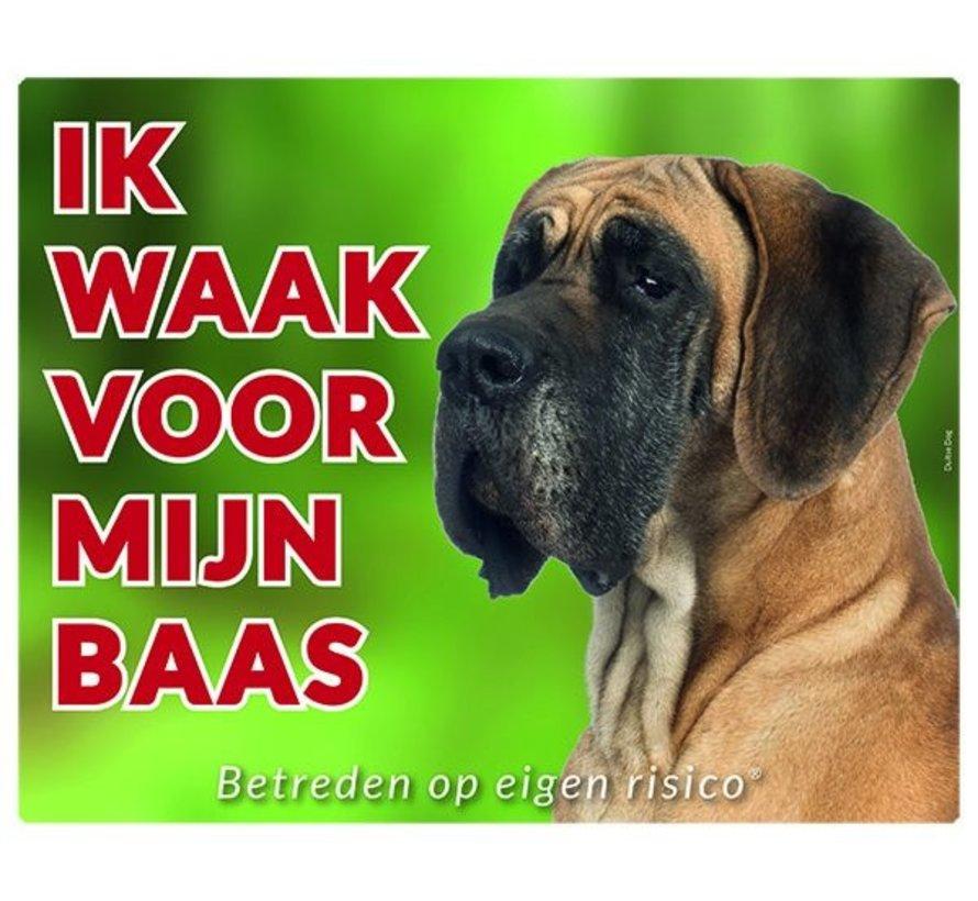 Duitse Dog Waakbord - Ik waak voor mijn baas
