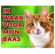 Stickerkoning Cats Wake board - I watch my boss Red