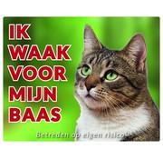Stickerkoning Cats Wake board - I watch my boss Tabby