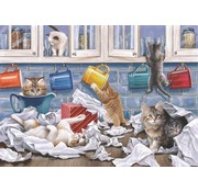 The House of Puzzles Kitty Litter Puzzle 250 pieces XL