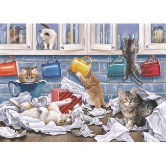 The House of Puzzles Kitty Litter Puzzle 250 Stück XL