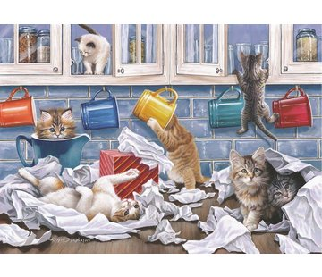The House of Puzzles Kitty Litter Puzzle 250 pièces XL