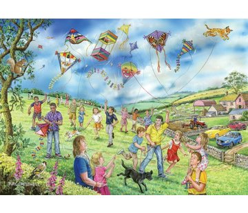 The House of Puzzles Let Go Fly a Kite Puzzle 250 pièces XL