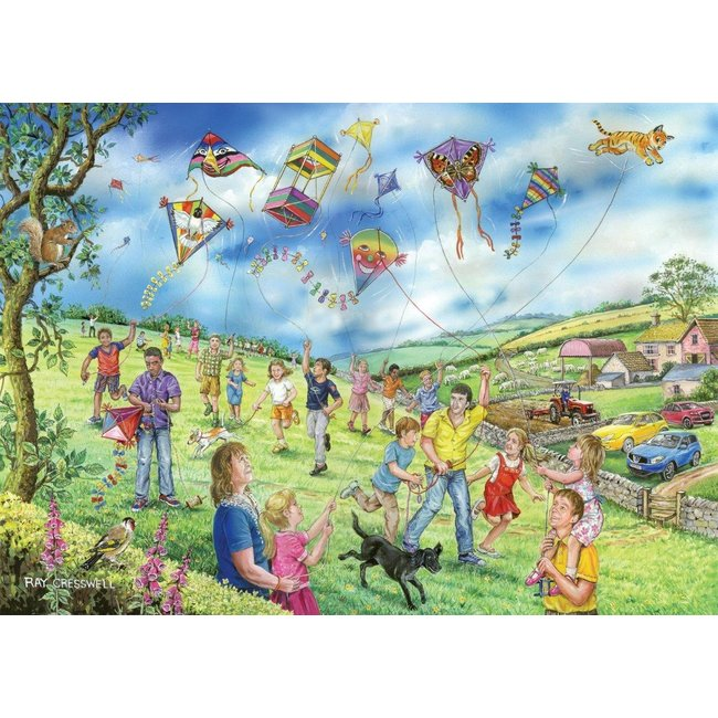 The House of Puzzles Let's go Fly a Kite Puzzel 250 XL stukjes