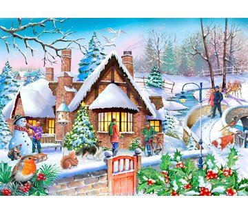 The House of Puzzles Snowy Cottage Puzzel 250 XL stukjes