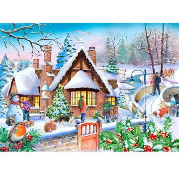 The House of Puzzles Snowy Cottage Puzzle 250 pieces XL