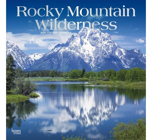Browntrout Rocky Mountain Wilderness Kalender 2020