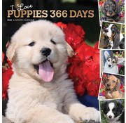 Browntrout I Love Puppies 365 Days Calendar 2020