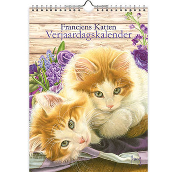 Comello Franciens Katzen Kätzchen Blumen-Geburtstags-Kalender