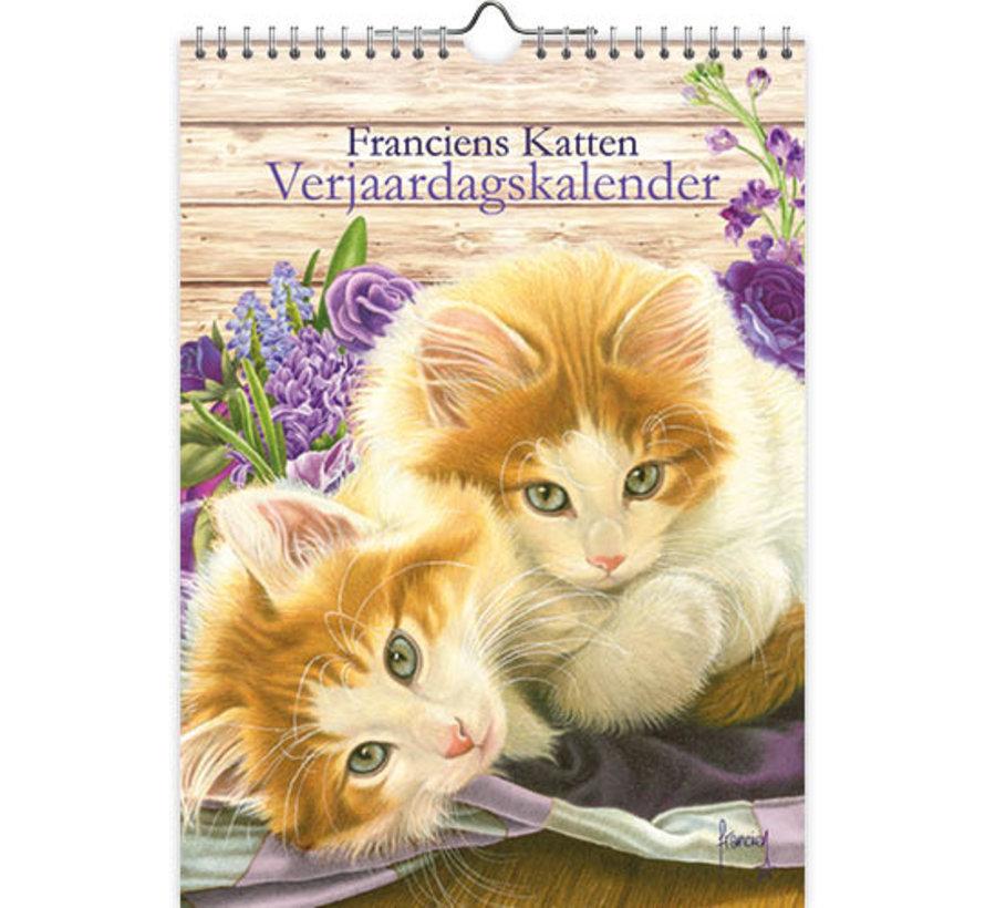 Franciens Katten Bloemen Kittens Verjaardagskalender