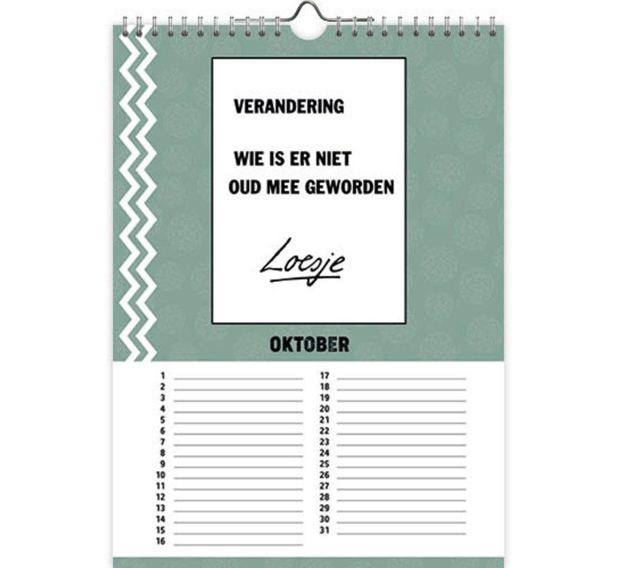 Loesje calendrier d'anniversaire