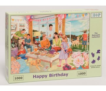 The House of Puzzles Happy Birthday Puzzel 1000 stukjes