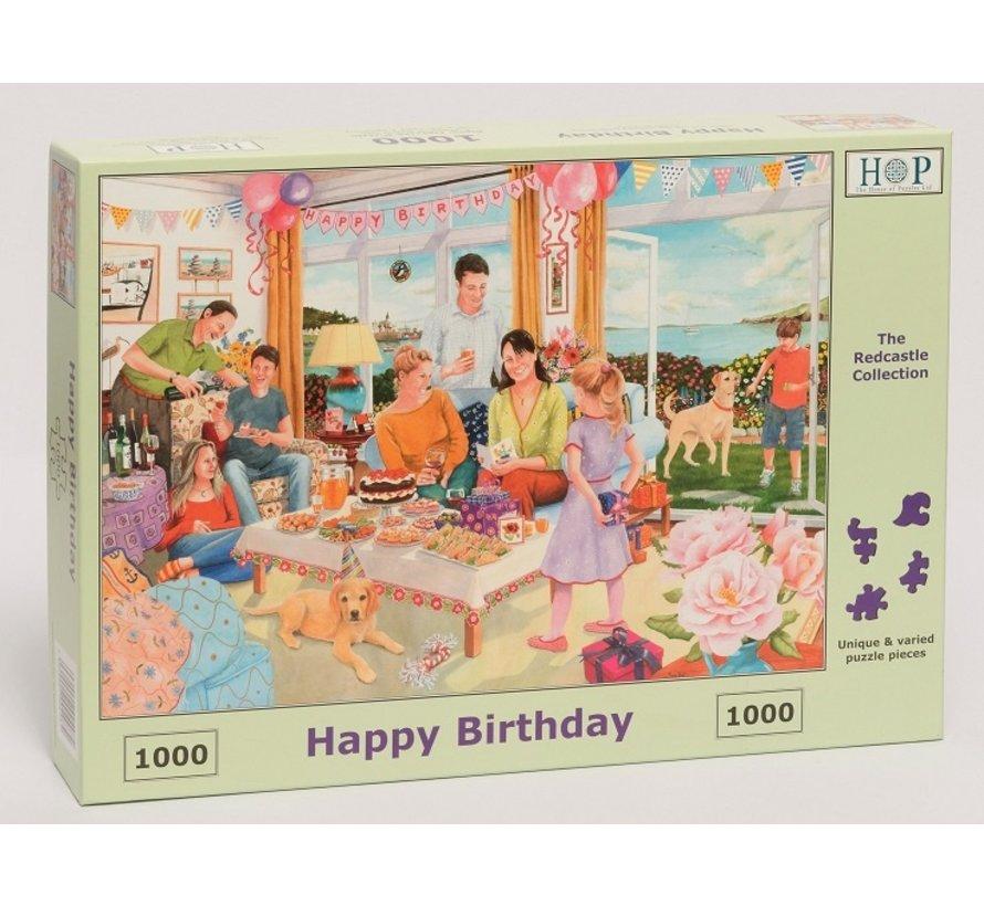 Happy Birthday Puzzel 1000 stukjes