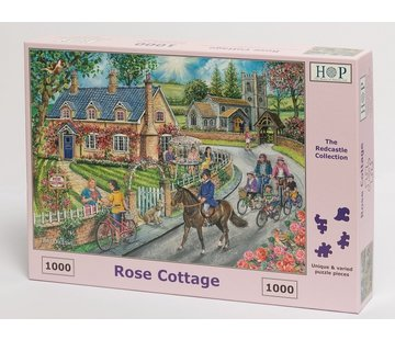 The House of Puzzles Rose Cottage Puzzel 1000 stukjes