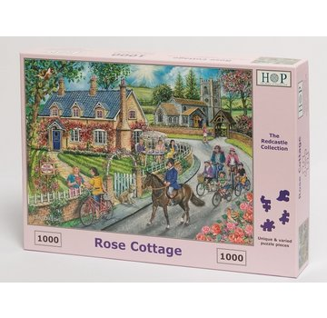 The House of Puzzles Rose Cottage Puzzle 1000 Stück