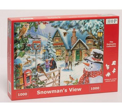 The House of Puzzles Snowman's View Puzzel 1000 stukjes