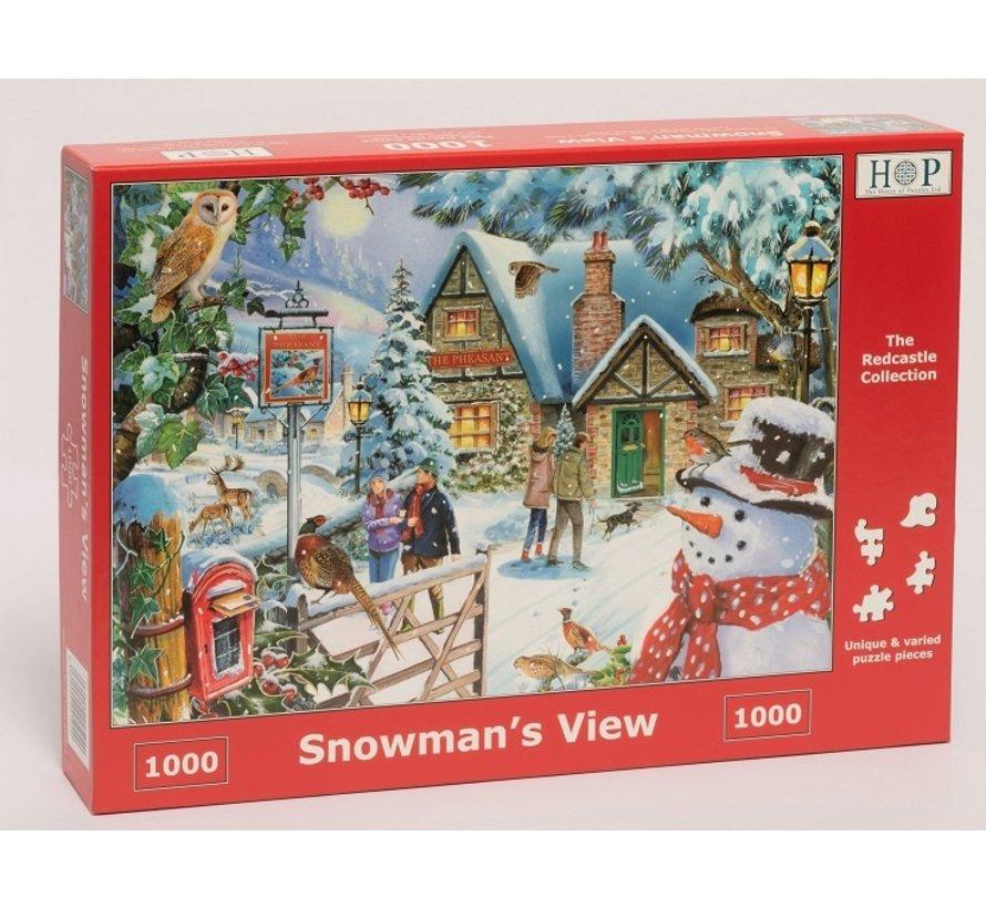 Snowman's View Puzzel 1000 stukjes