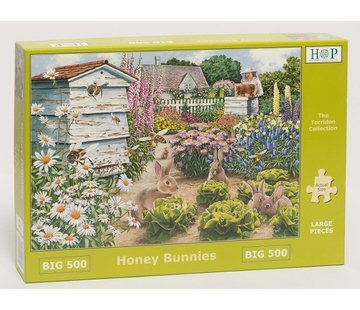 The House of Puzzles Honey Bunnies Puzzel 500 XL stukjes