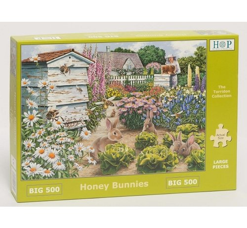 The House of Puzzles Honey Bunnies Puzzle 500 pieces XL
