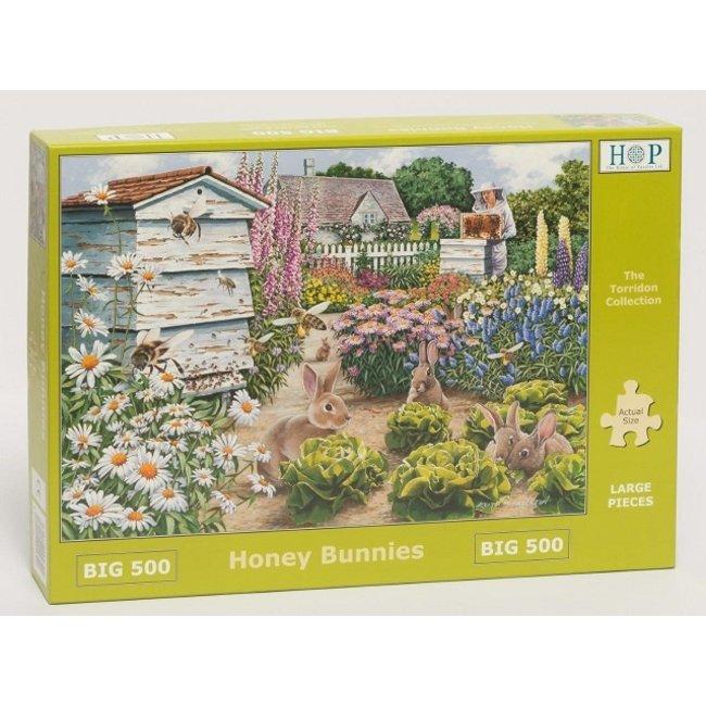The House of Puzzles Honey Bunnies Puzzel 500 XL stukjes