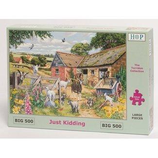 The House of Puzzles Just Kidding Puzzel 500 XL stukjes
