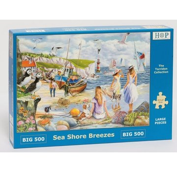 The House of Puzzles Sea Shore breezes Puzzle pieces 500 XL