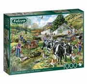 Falcon Another Day on The Farm 1000 Piece Jigsaw Puzzle