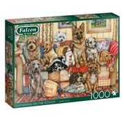 Falcon Gathering on the Couch  1000 Piece Jigsaw Puzzle