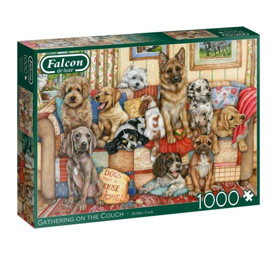 Gathering on the Couch  1000 Piece Jigsaw Puzzle