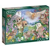 Falcon Owls In The Wood Puzzel 1000 Stukjes