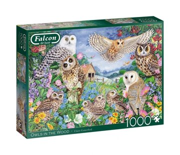 Falcon Eulen im Holz Puzzle 1000 Stück