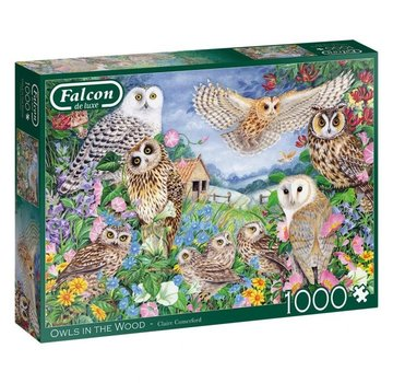 Falcon Owls In The Wood 1000 Piece Jigsaw Puzzle