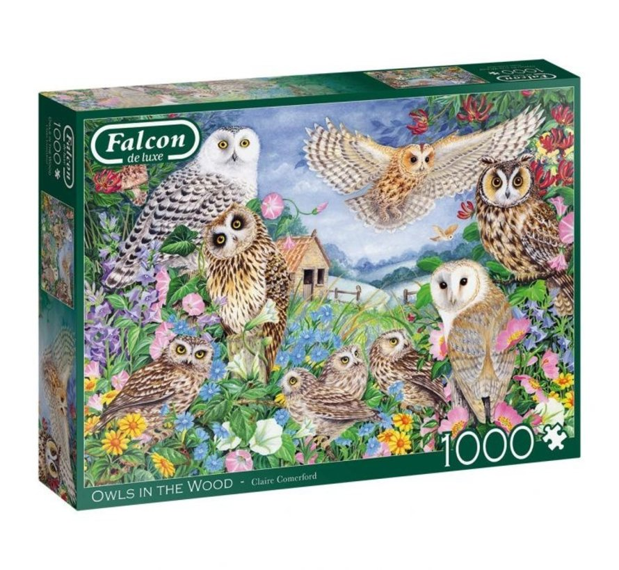 Owls In The Wood 1000 Piece Jigsaw Puzzle