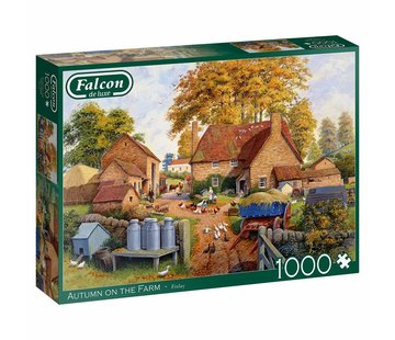 Falcon Autumn on The Farm 1000 Piece Jigsaw Puzzle