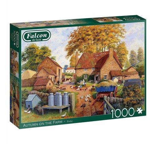 Falcon Autumn on The Farm 1000 Piece Jigsaw Puzzle