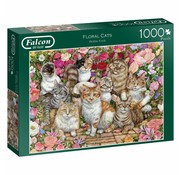 Falcon Floral Cats 1000 Piece Jigsaw Puzzle