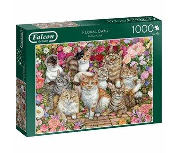 Falcon Floral Cats Puzzel 1000 Stukjes