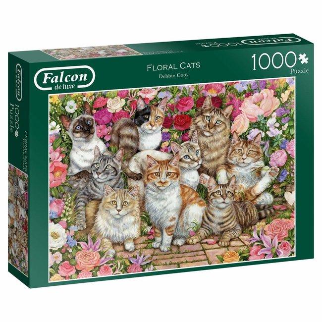 Puzzle Blumen Katzen 1000 Stück