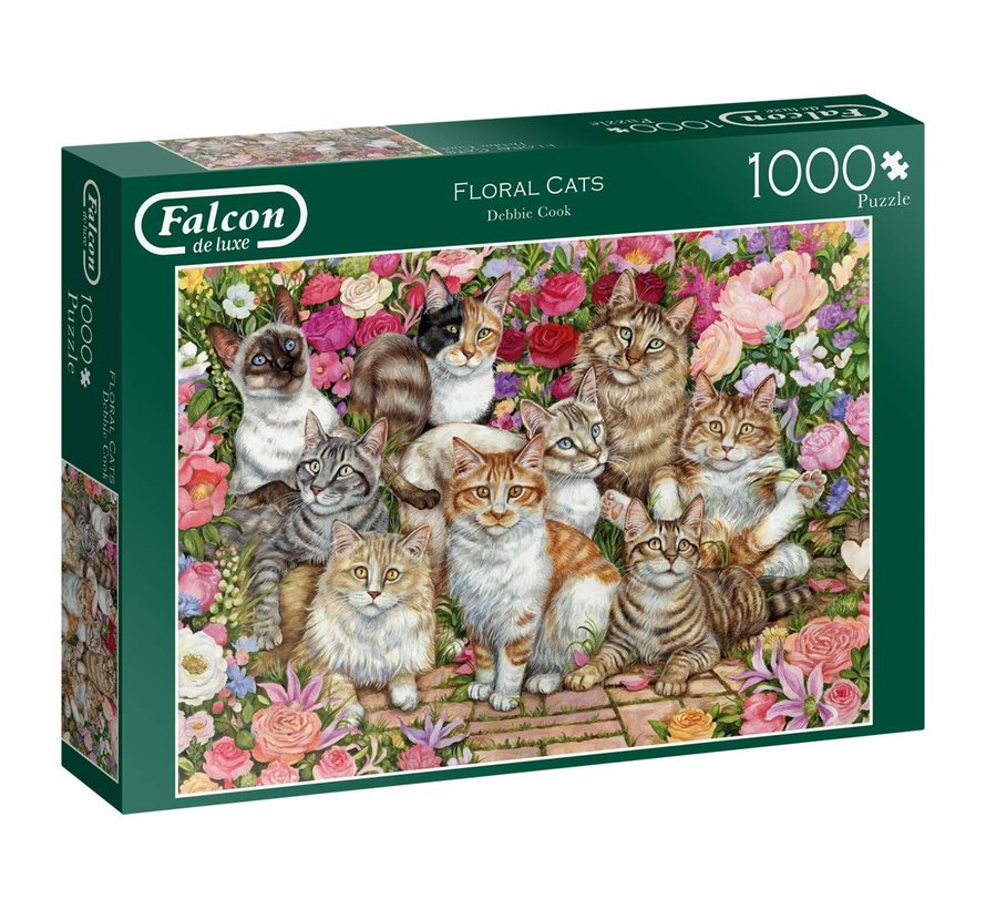 Floral Cats Puzzel 1000 Stukjes