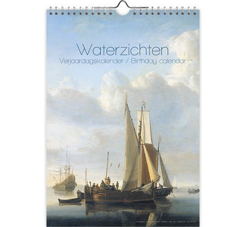 Comello Waterzichten Verjaardagskalender A4