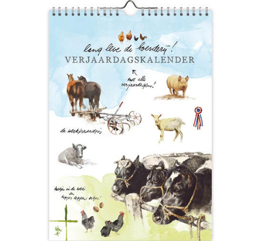 Lang Leve de Boerderij Verjaardagskalender A4