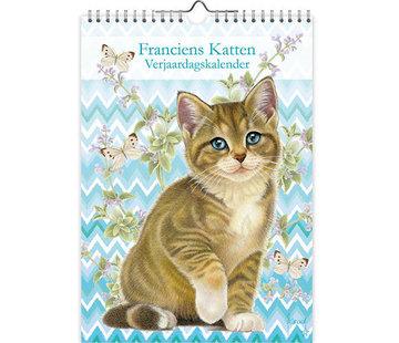 Comello Franciens Cats Birthday Calendar A4