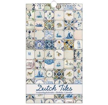 Bekking & Blitz Dutch Tiles Birthday Calendar