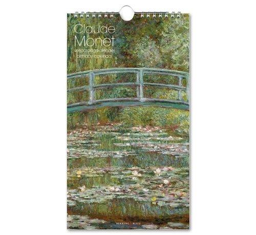Bekking & Blitz Claude Monet Waterlilies Birthday Calendar