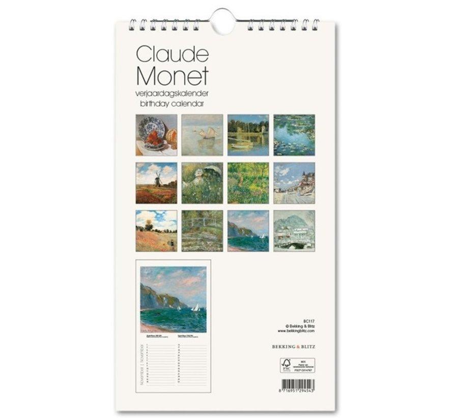 Claude Monet Waterlilies Birthday Calendar