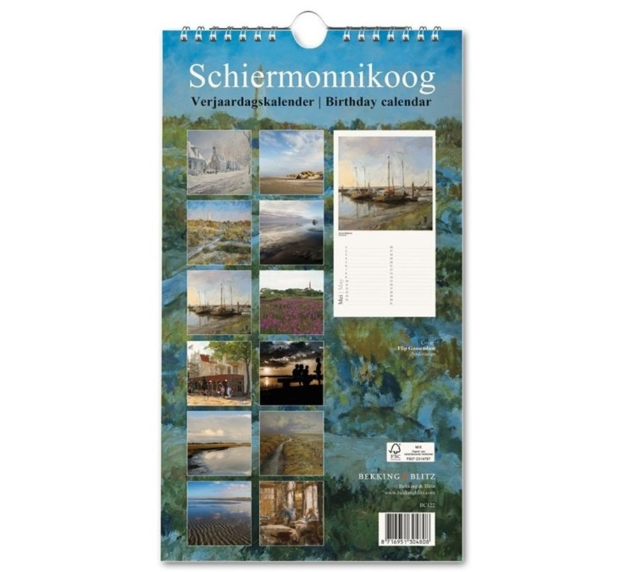 Schiermonnikoog Birthday Calendar