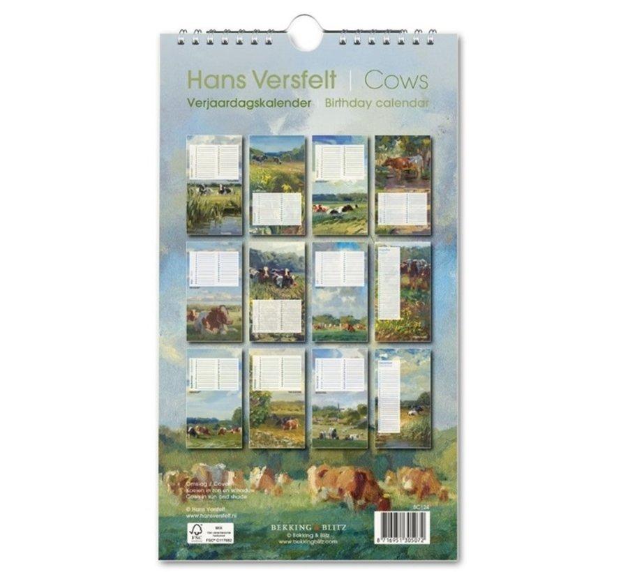 Cows Birthday Calendar