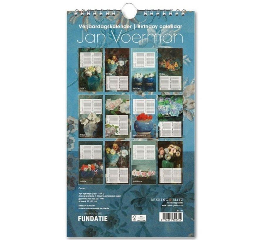 Jan Carter Birthday Calendar