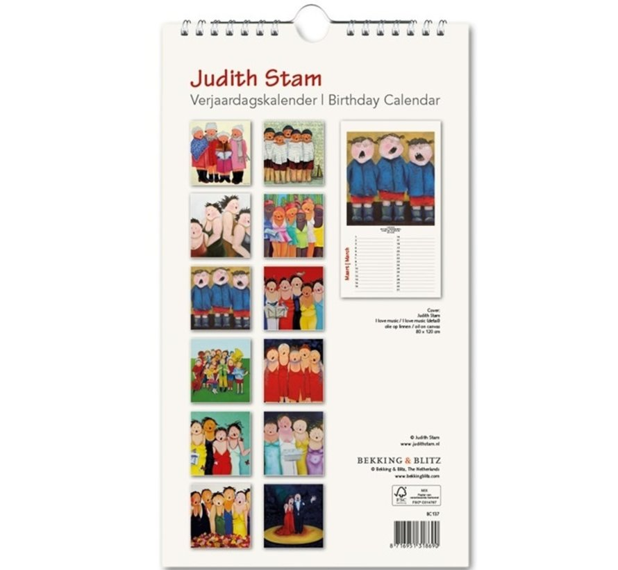 Judith Stam Verjaardagskalender
